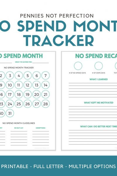 No Spend Month Challenge Tips & Printables