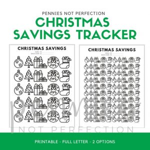Christmas Savings Tracker Printable | Savings Coloring Chart - Pennies Not Perfection