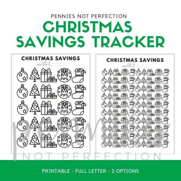 Christmas Savings Tracker Printable | Savings Coloring Chart - Pennies Not Perfection