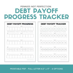 Debt Payoff Tracker | Debt Payoff Progress Tracker Printable