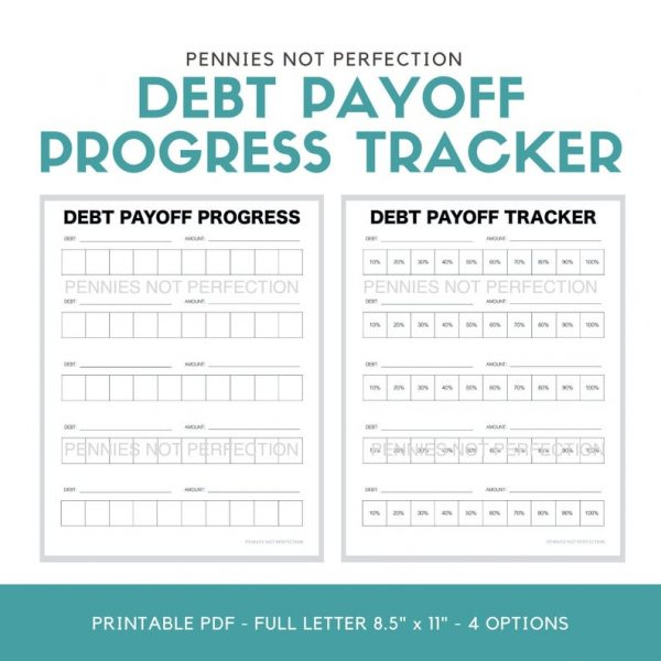 Debt Payoff Tracker | Debt Payoff Progress Tracker Printable