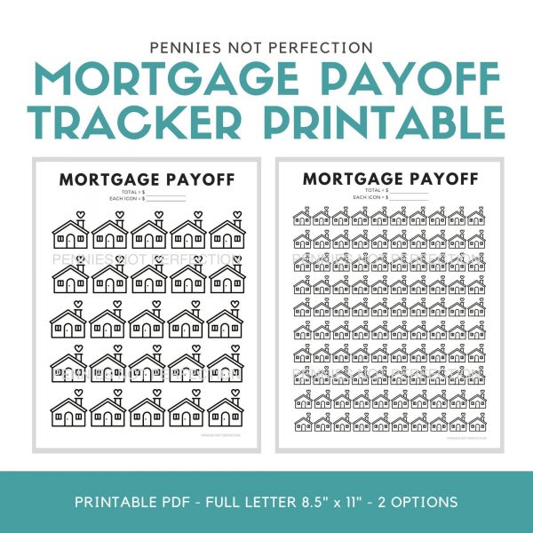 Mortgage Payoff Tracker Printable | Mortgage Debt Payoff Tracker