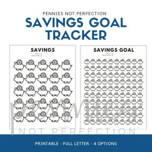 Savings Goal Tracker | Piggy Bank Savings Tracker Printable - Pennies Not Perfection
