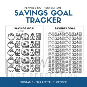 Savings Goal Tracker | Savings Printable | Savings Tracker - Pennies Not Perfection
