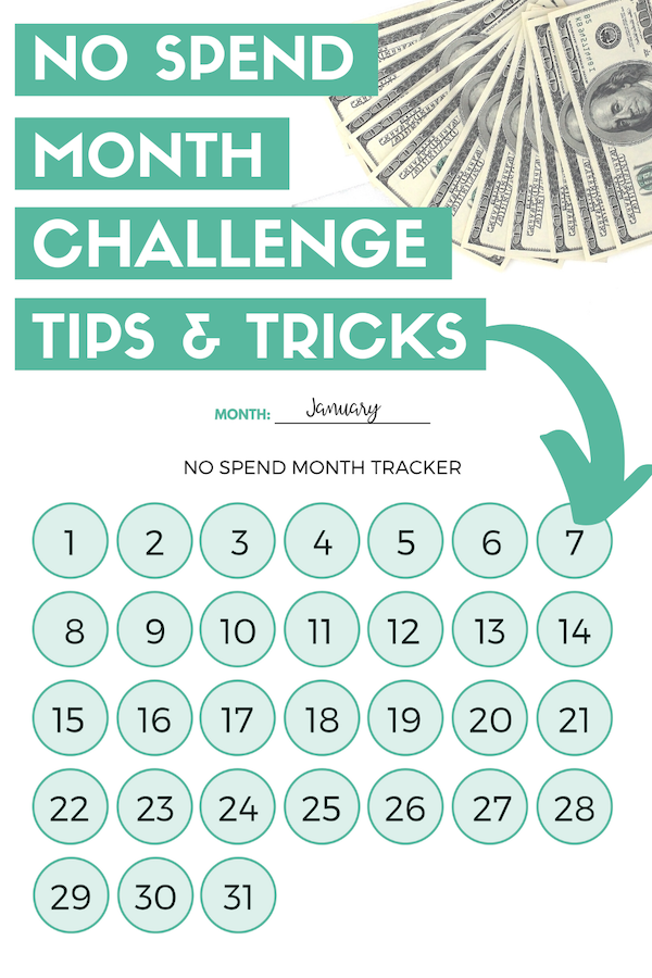 no spend month challenge tips and tricks