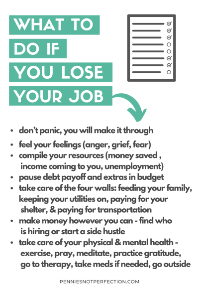 What To Do During A Job Loss Or Financial Crisis