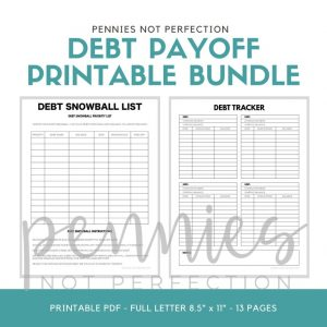 Debt Payoff Planner Bundle Printable - Pennies Not Perfection